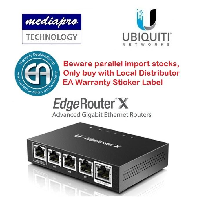 Brand New Ubiquiti Er X Edgerouter X Advanced Gigabit Ethernet Router Local Distributor Warranty