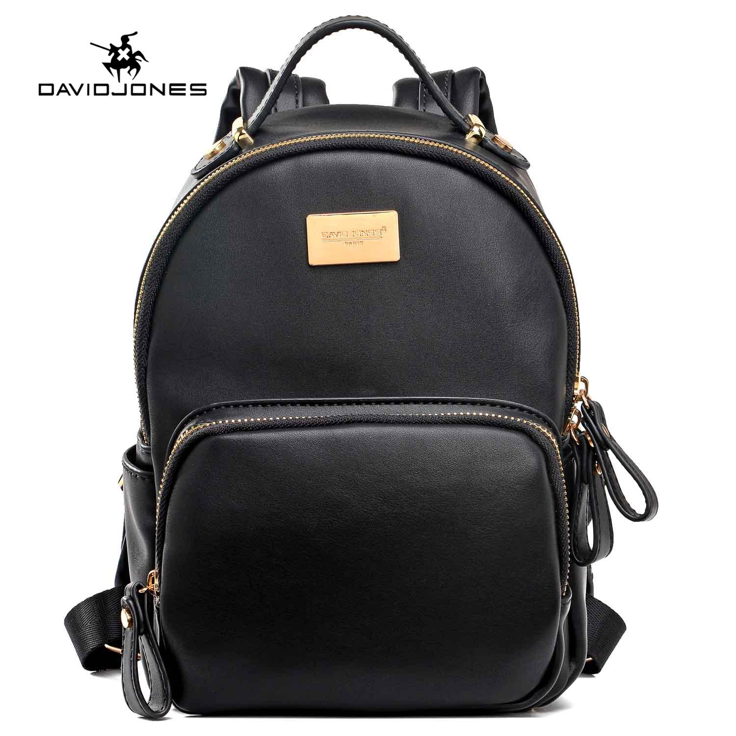 Review Davidjones Genuine Leather Small Mini Backpack On China