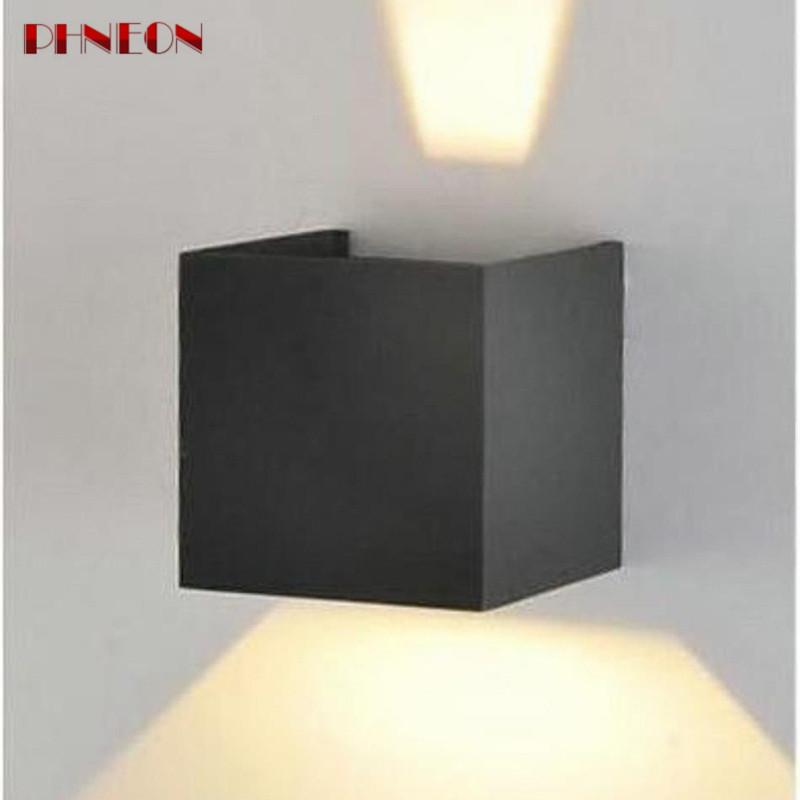 PHNEON Lampada Led Ip67 Indoor Outdoor Led Wall Lamp Aluminum Adjustable Surface Mounted Cube Led Garden Porch Light Lampara