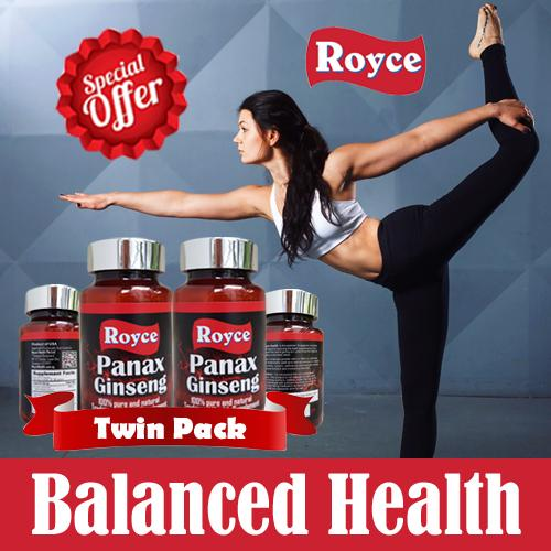 Royce Premium Panax Ginseng 120 60X2 Capsules Review