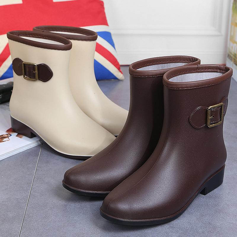 6946bd4d64b0 New Style Rain Boots women Adult South Korea Rain Shoes Cute Short  Anti-slip Fashion