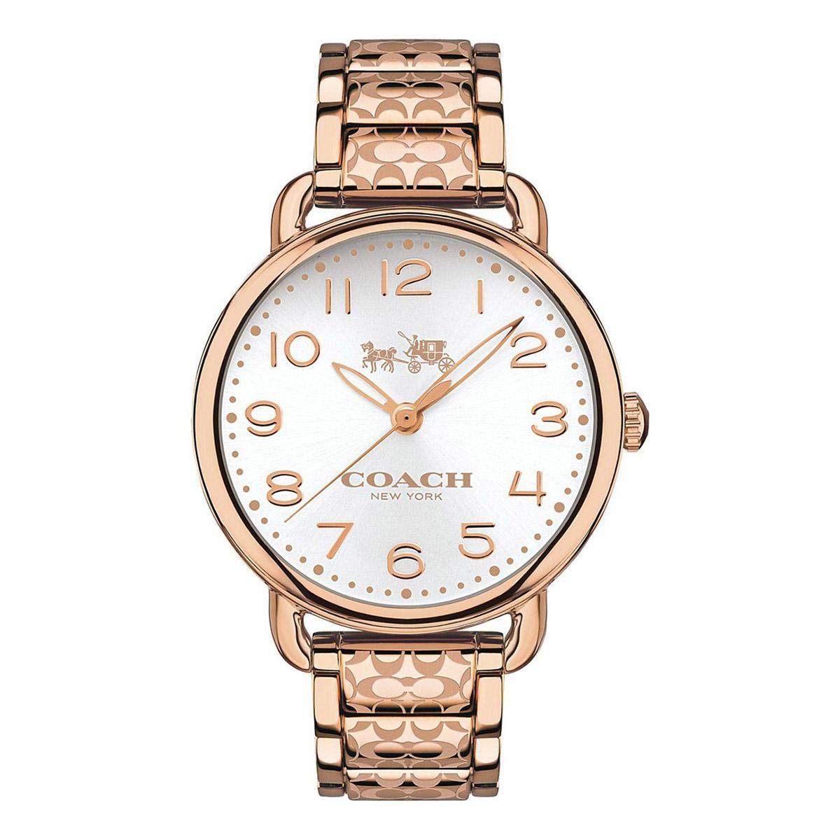 Retail Coach Watch Delancey Rose Gold Stainless Steel Case Stainless Steel Bracelet Ladies 14502497