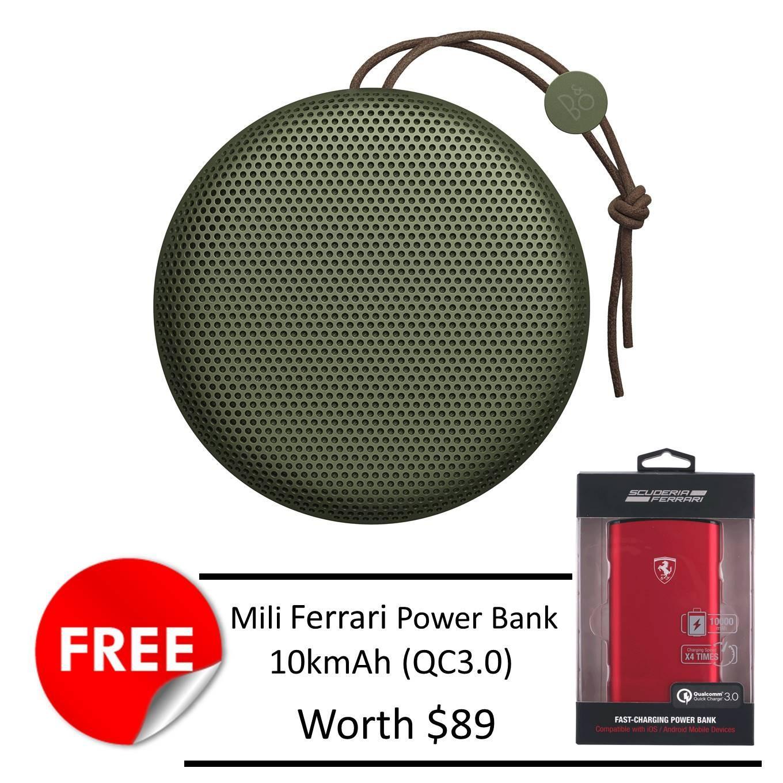 Compare B O Beoplay A1 Bluetooth Speaker Moss Green Free Mili Ferrari 10K Mah Powerbank