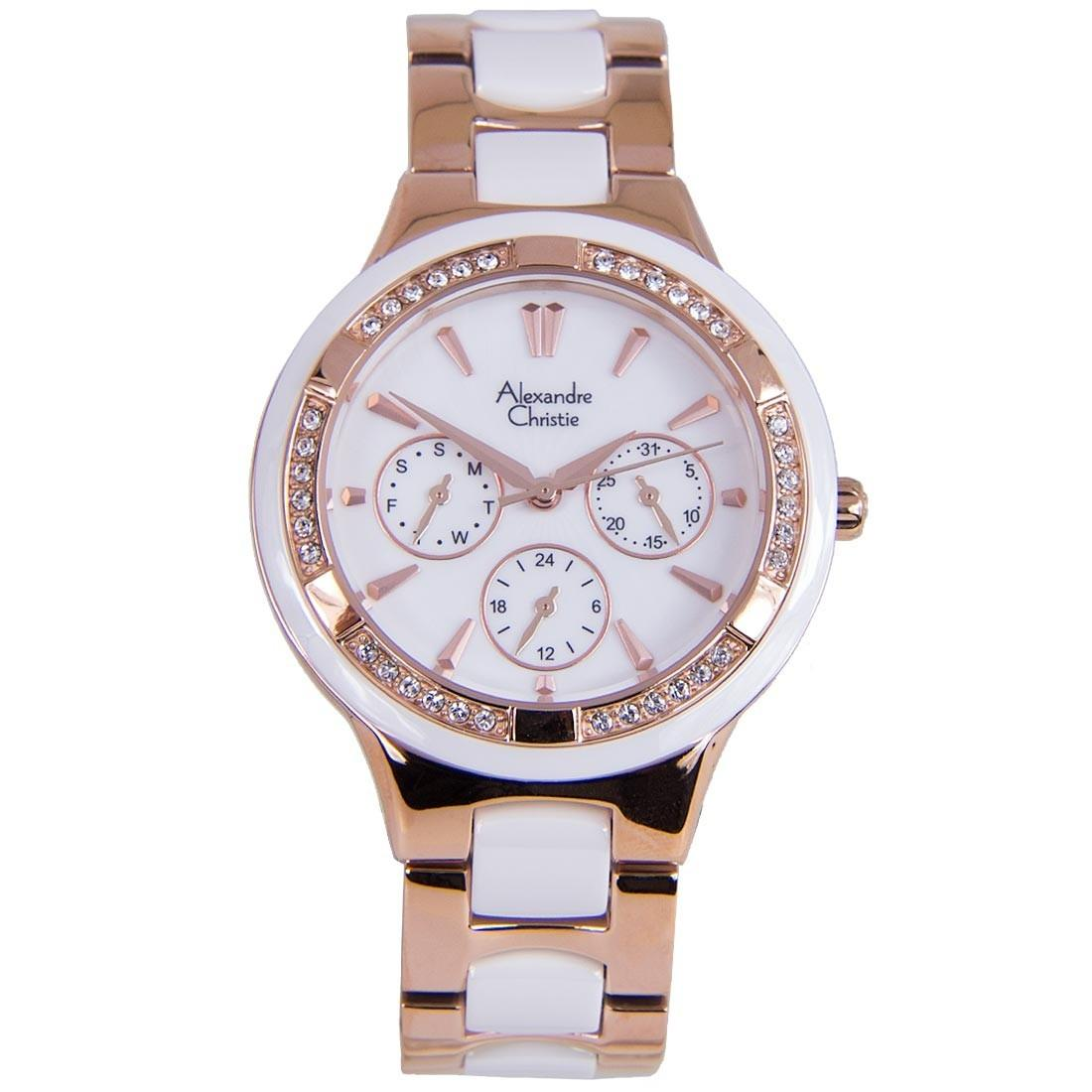 Alexandre Christie Ac 5002 Jam Tangan Pria Kasual Silver Rose 6444 Mc Black Cream Fashion Casual Business
