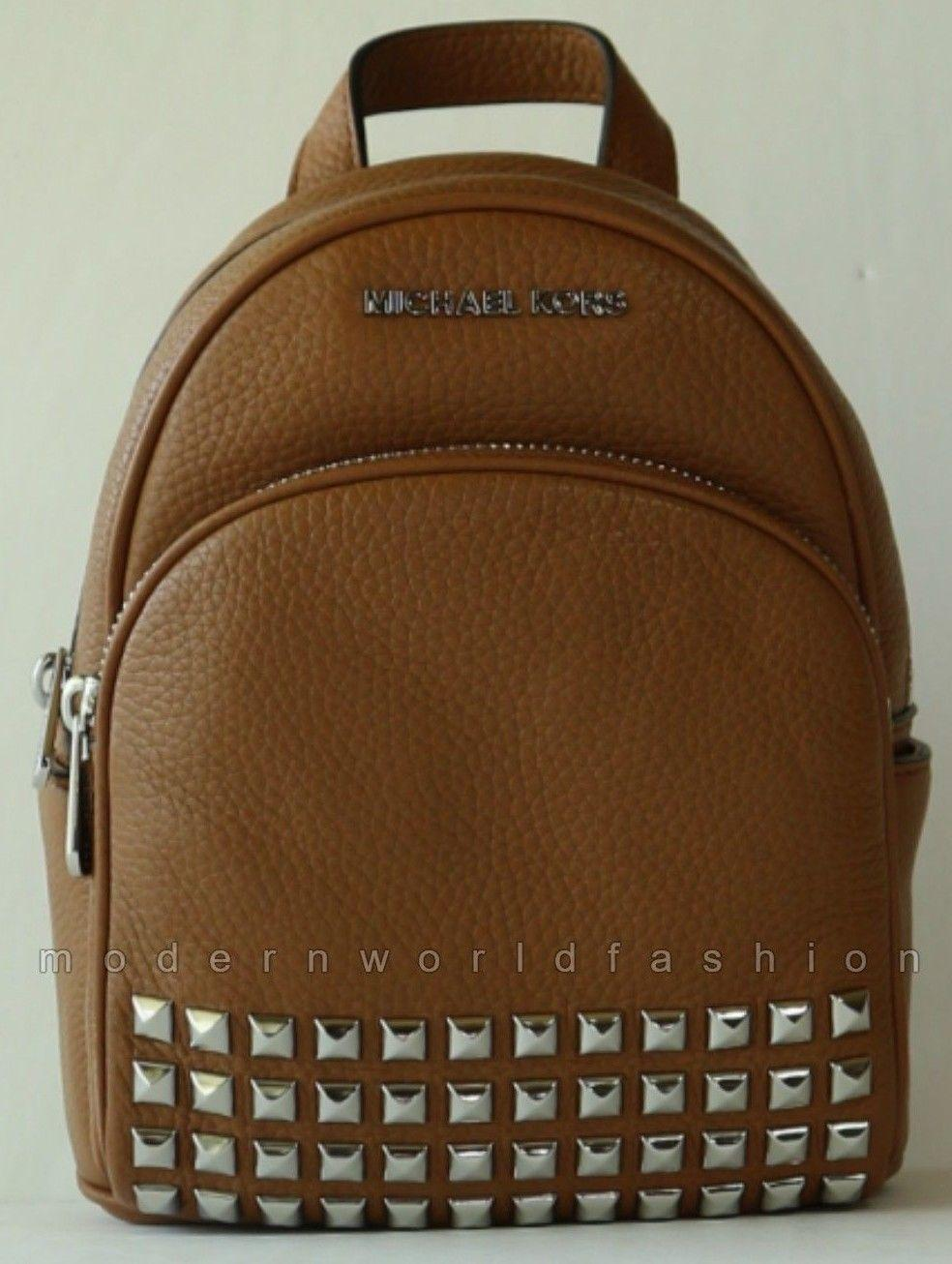 f030b7a96815 Singapore. Michael Kors Leather Abbey XS Studded Backpack