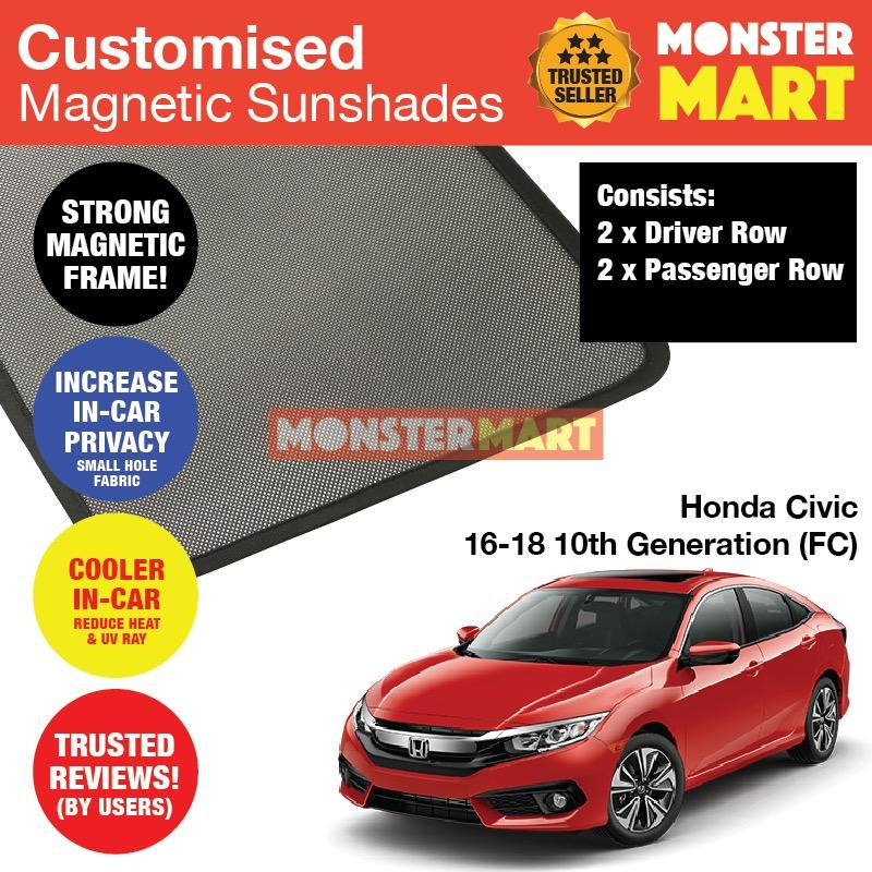 Who Sells Honda Civic 2016 2018 10Th Generation Fc Customised Car Accessories Window Magnetic Sunshades 4 Pieces Cheap
