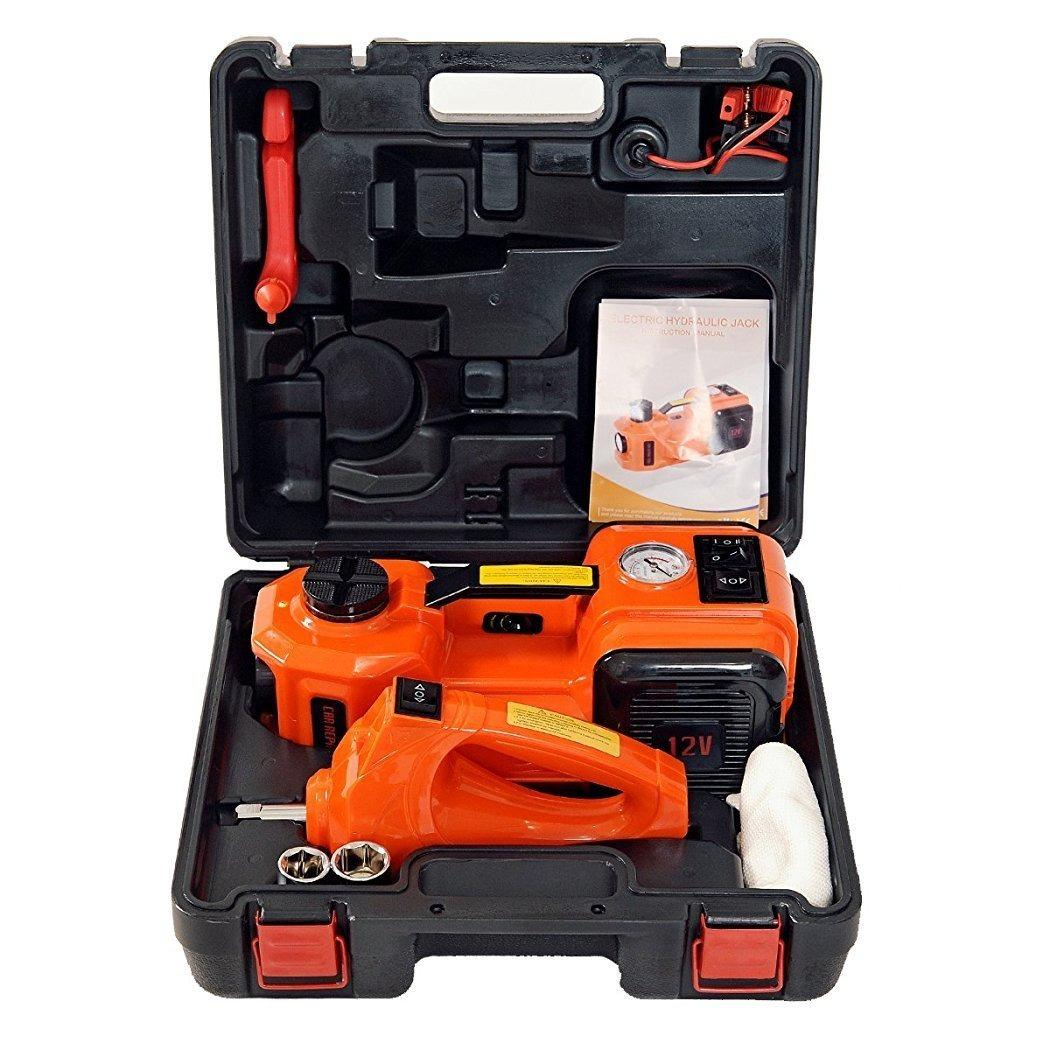 Compare Price Electric Hydraulic Floor Jack And Tyre Inflator Pump With Electric Impact Wrench Tyre Repair Tool Kit For Car Suv With Powerbank Option Oem On Singapore