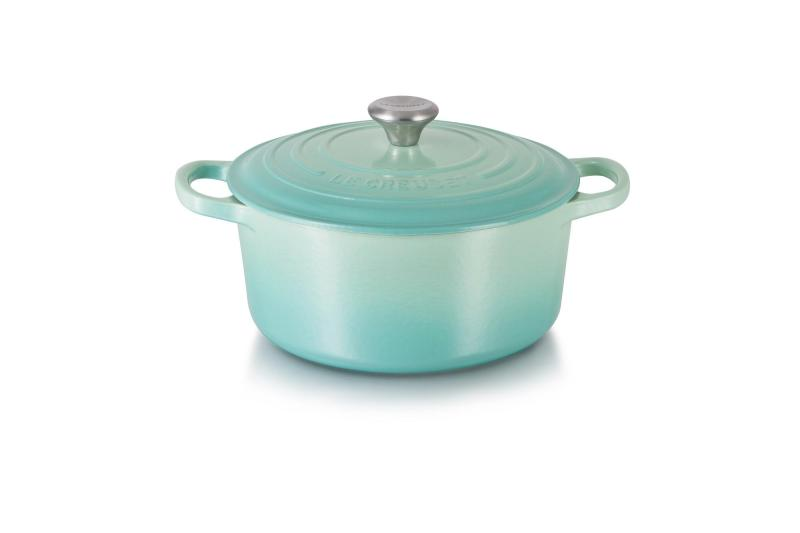 Le Creuset Cast Iron Round French Oven 22cm, Classic (Cool Mint) - Online Exclusive Singapore