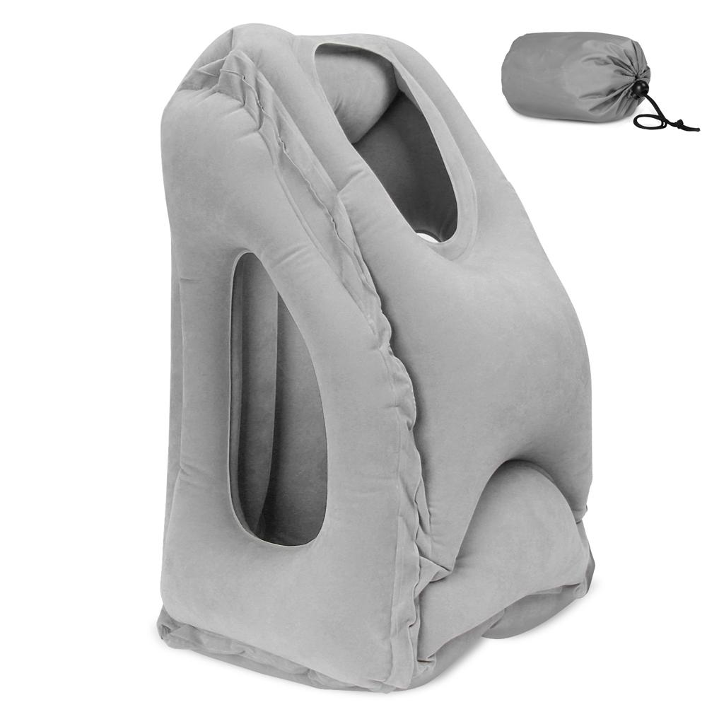 Top Rated Inflatable Travel Pillow For Airplanes Camping Office Multifunction Nap Pillow Neck Pillow With Full Body Chin Head Support Comfortable Bolster Car Sleeping Bedding Pillow Intl