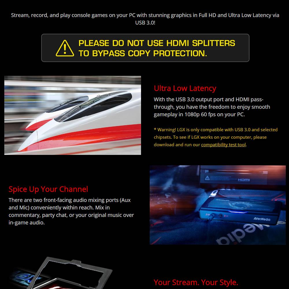 AVerMedia Live Gamer Extreme (GC550), USB3 0 Game Streaming and Video  Capture