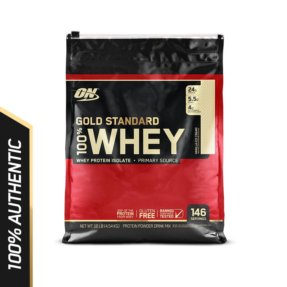 Optimum Nutrition Gold Standard Whey 10 Lbs Vanilla Ice Cream Lower Price