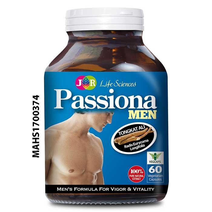 Jr Life Sciences Passiona Men 60 Vegetarian Capsules In Stock