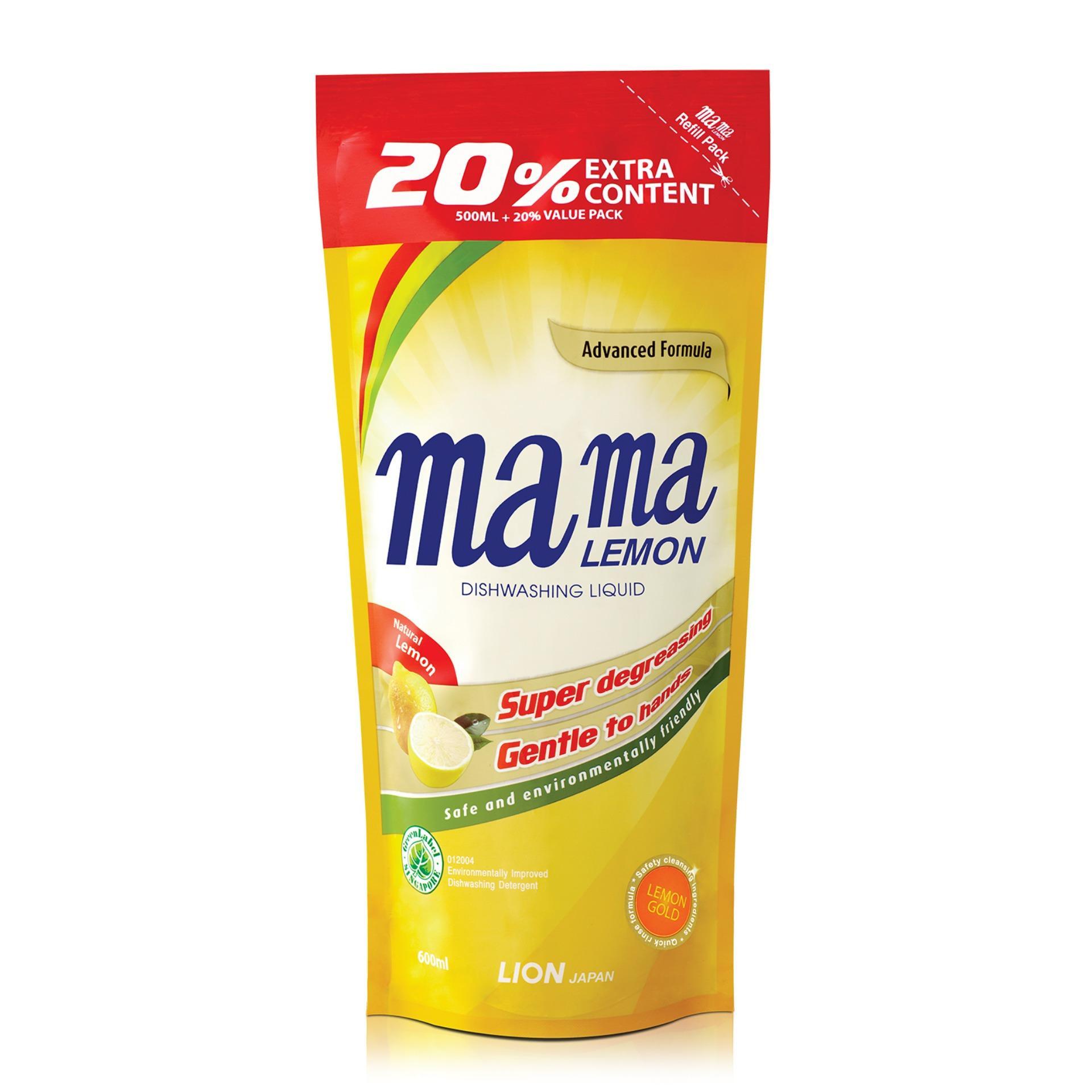 Mama Lemon Dishwashing Liquid Refill (Lemon Gold) 600ml