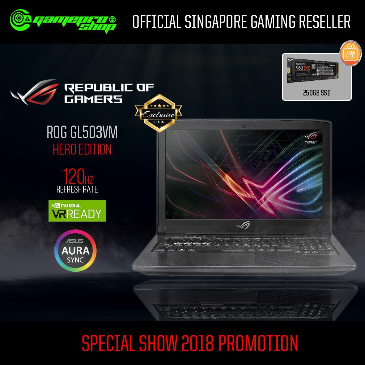 ASUS GL503VM - ED375T i7-7700HQ/ GTX1060M 6GB/ 1TB) 15.6 FHD 120Hz *PC SHOW*