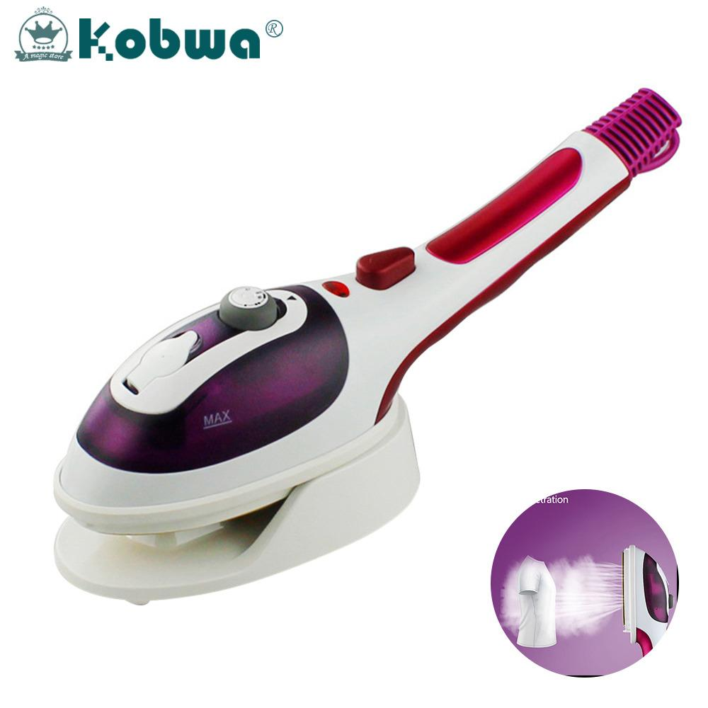 Cheapest Kobwa Professional Handheld Garment Steamers Steam Iron Portable Iron Purple Eu Plug Online