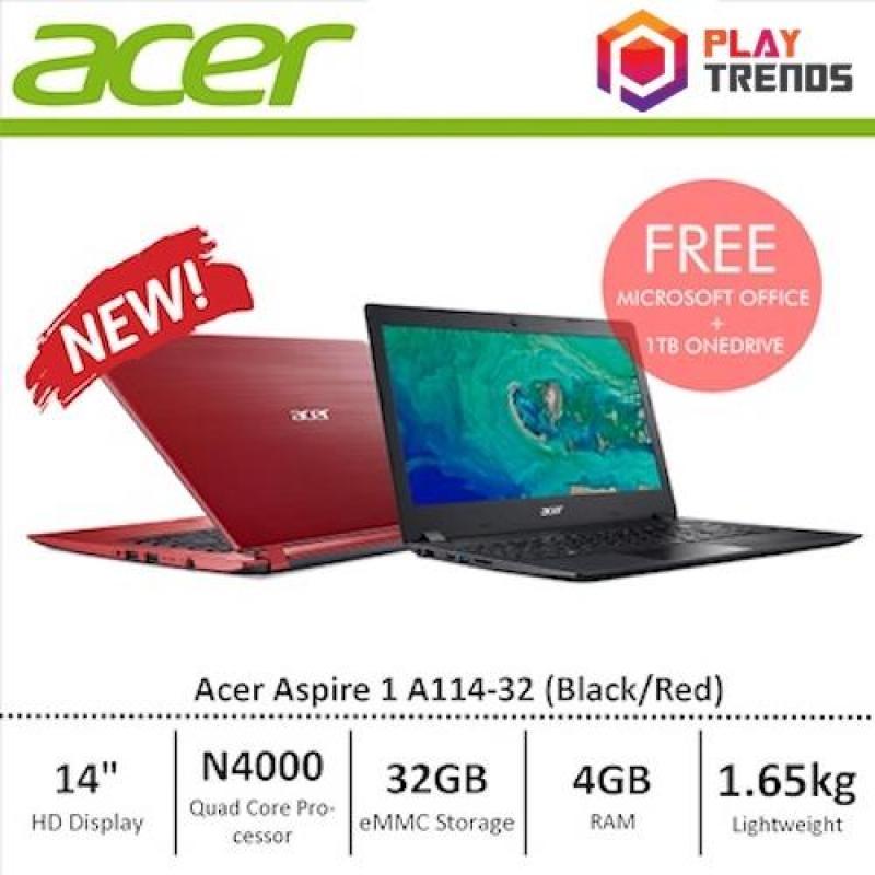 [NEW] Acer Aspire 1 Black 14 HD 4GB Ram/32GB eMMC/W10 Light weight Laptop