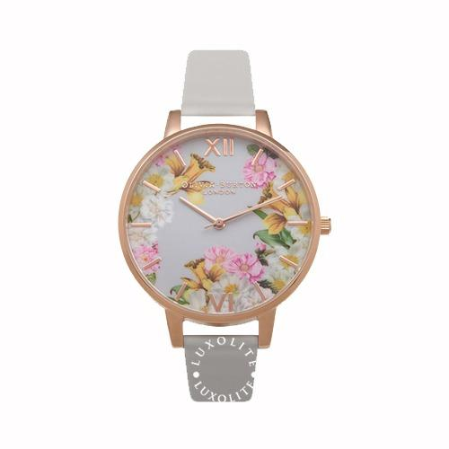 Discount Olivia Burton Ladies Flower Show Rose Gold Watch Ob15Fs71 Olivia Burton On Singapore