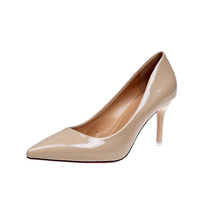 Low Price Patent Leather Spring Summer Pointed Women S Shoes Thin Heeled Pumps