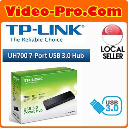 TP-LINK UH700 USB 3.0 7-Port Super Hi-speed USB Hub with Power Adapter