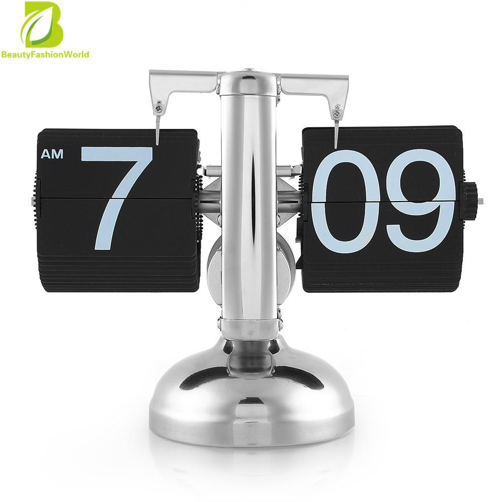 Scale Auto Flip Single Stand Desk Table Alarm Clock Home Gift In Stock