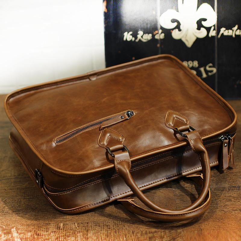 b7dfbb9247 Genuine Cow Leather Business Bags Men s handbag casual bag shoulder bag  messenger bag briefcase