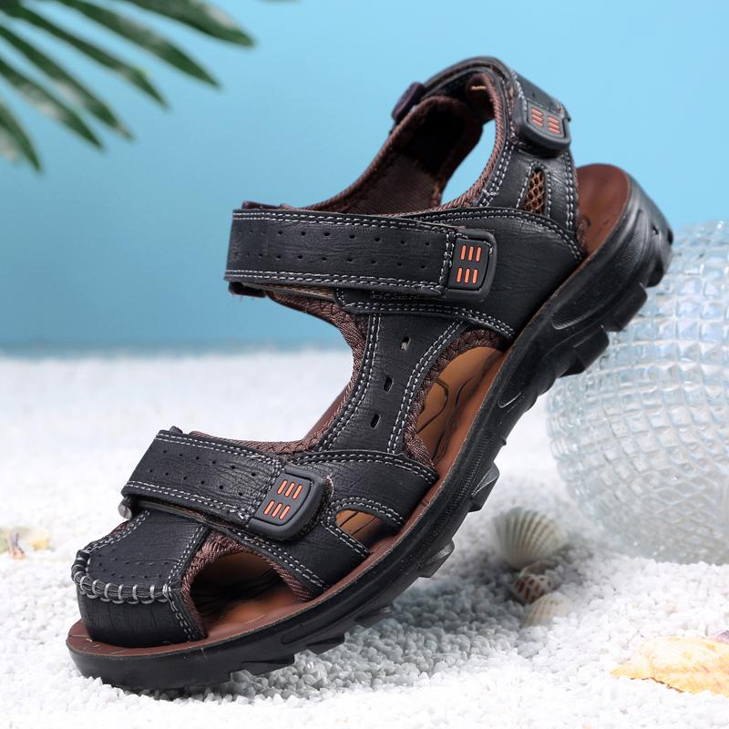 The British Leather Teenager Students Sandals Men Sandals Promo Code