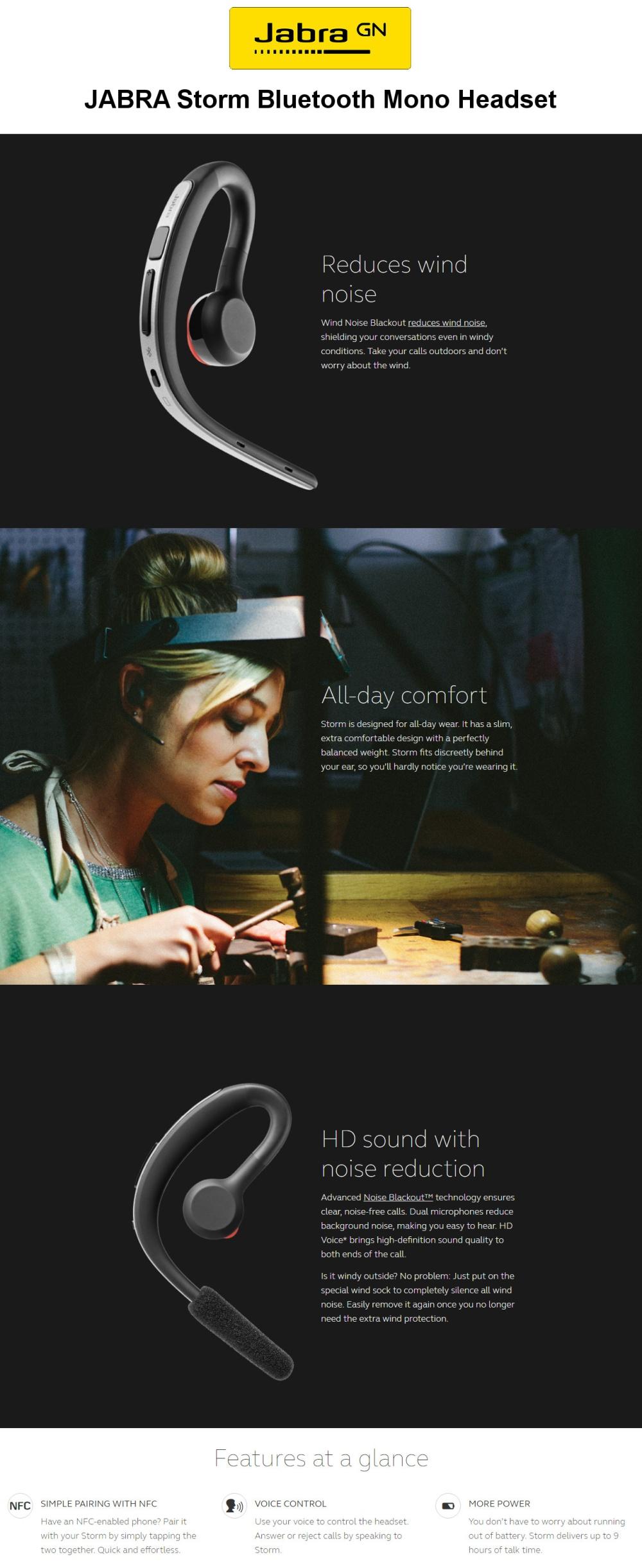 Jabra Storm Bluetooth Headset Tech Nuggets
