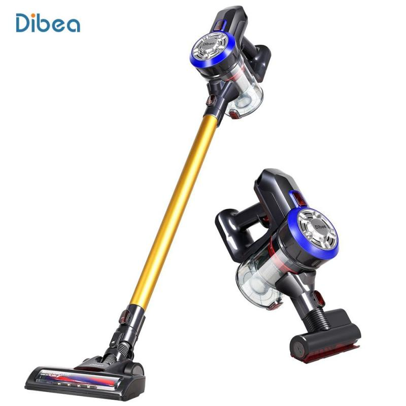 Dibea D18 Lightweight Cordless Handheld Stick Vacuum Cleaner with Motorized Brush 2 In 1 Upright Cordless Vacuum Cleaner Cyclone Filter 120W 8500 Pa Strong Suction Dust Collector Household Aspirator Singapore
