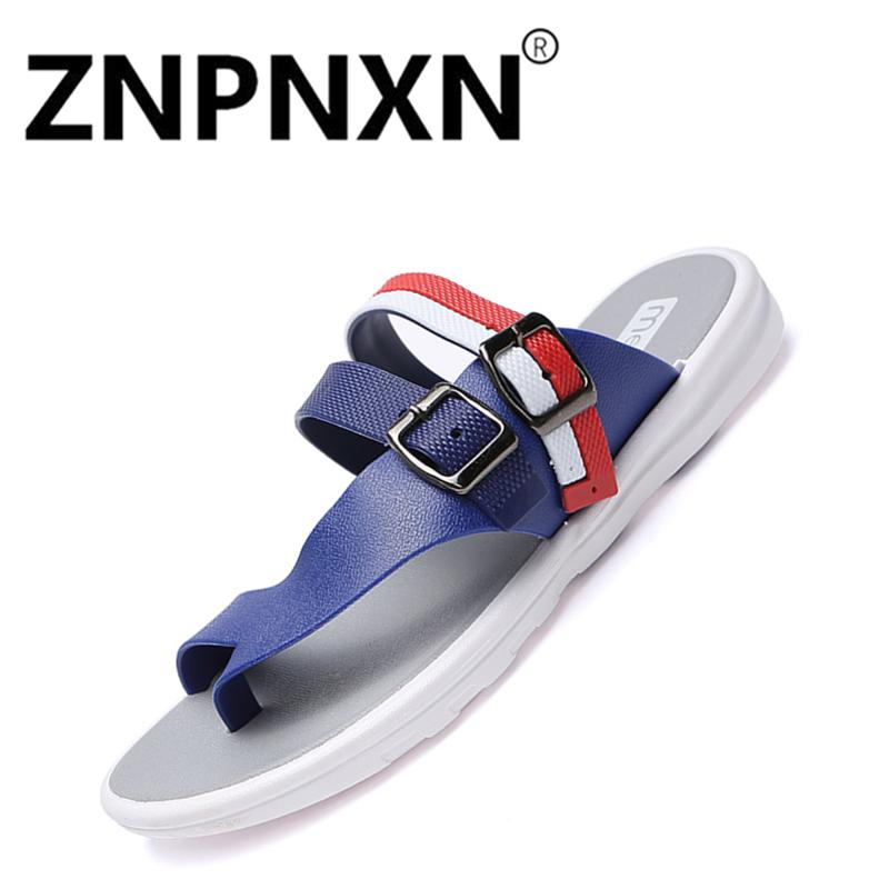 ea67070667cf ZNPNXN Shoes Summer Fashion Soft Breathable Beach Slippers Non-Slip  Wear-Resistance Casual Sandals