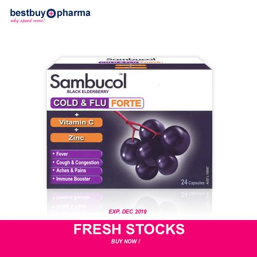 How To Buy Sambucol Black Elderberry Cold Flu Forte Capsules 24S