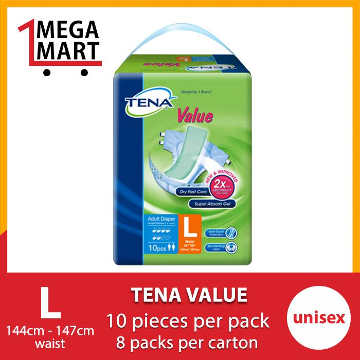 Best Reviews Of Megamart Tena Value L 8 X 10S Carton Sales