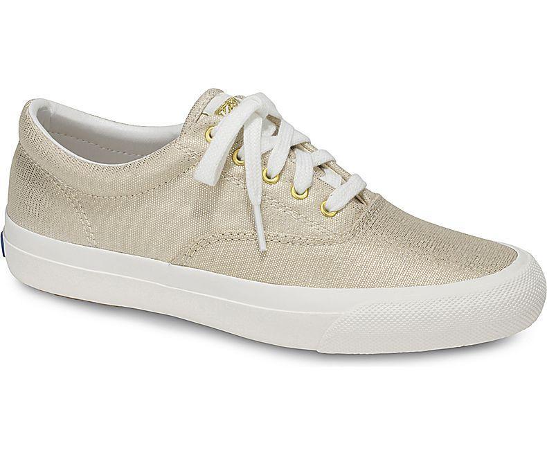 Price Keds Anchor Metallic Linen Natural Sneakers Wf58145 Singapore