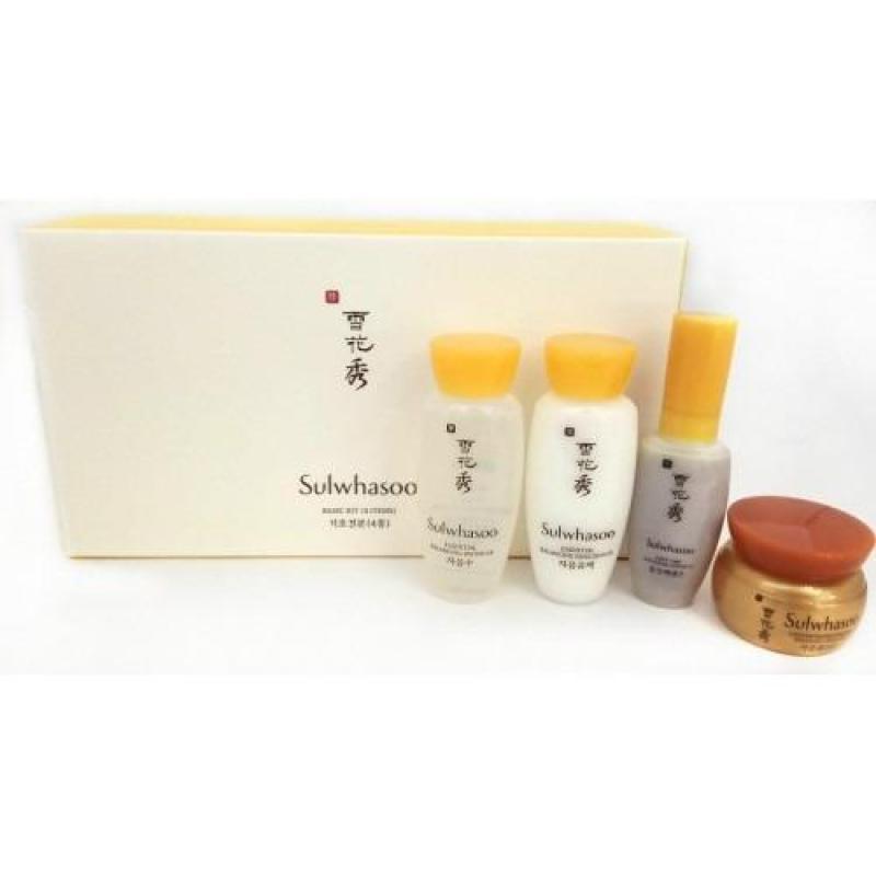 Buy Sulwhasoo basic travel kit (4 items) (essence 8ml skin 15ml lotion 15ml cream 5ml) Singapore