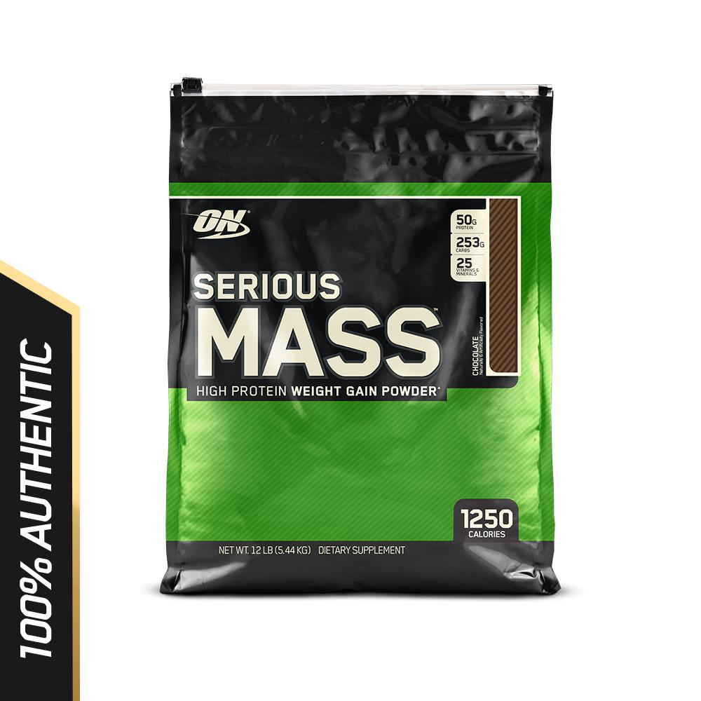 Great Deal Optimum Nutrition Serious Mass 12 Lbs Chocolate
