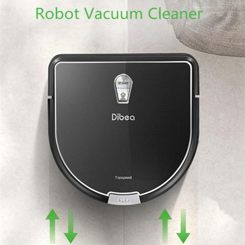 Dibea D960 Robot Vacuum Cleaner Smart Wet Mopping Robot Aspirador Edge Cleaning Technology Robot Cleaner UK Plug For Home Singapore