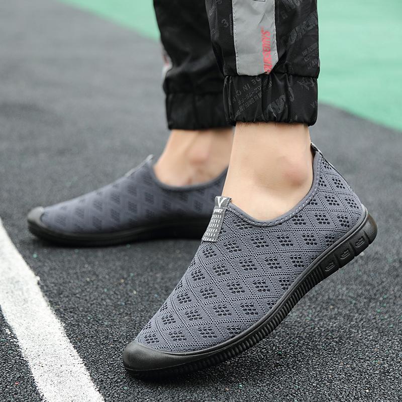 ZNPNXN  Sepatu Mendaki untuk Pria Olahraga Luar Ruangan Bernapas Hiking Tahan Air Jelajah Berkemah Perjalanan Navy Sepatu Gunung Pria Berjalan Pakaian Sederhana Sepatu Sneaker Pria Olahraga -Intl - 3