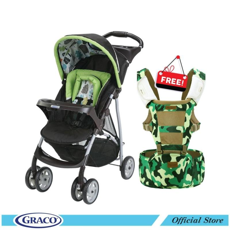 Graco Literider (Bear Trail) FREE Becute Hipseat Carrier Singapore
