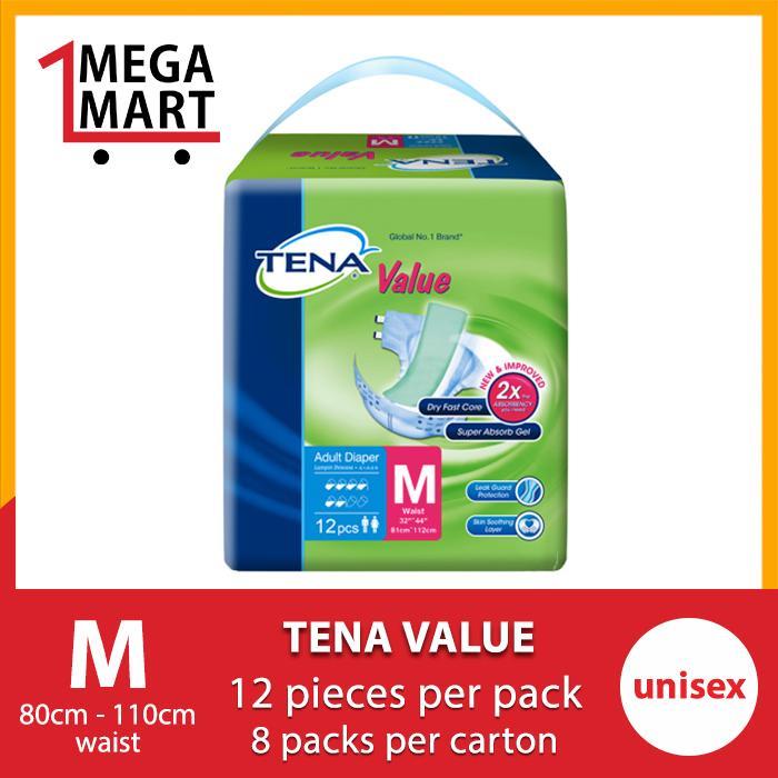 [Megamart] TENA Value M 8 x 12s Carton Sales