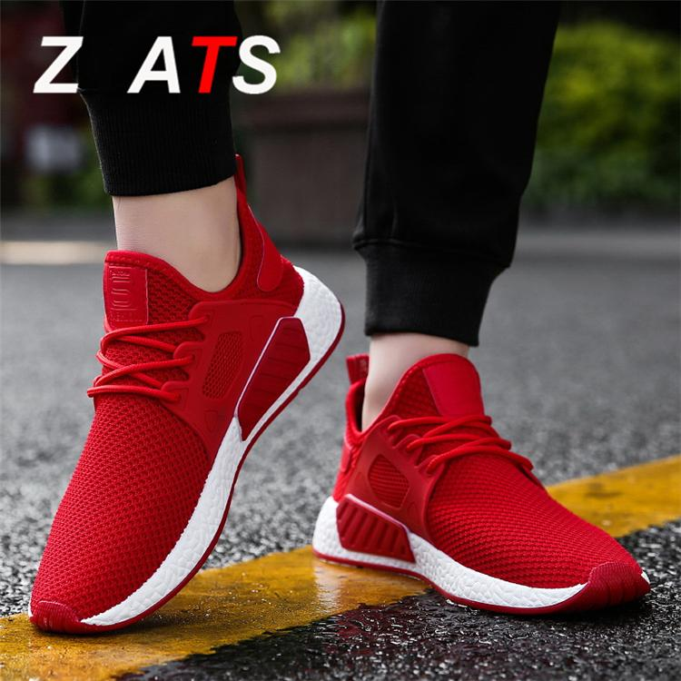 ZYATS 2018 Musim Panas Pria Sneakers Kasual Mesh Bernapas Sepatu Lari Sepatu  Olahraga Joging 68386c4fe9