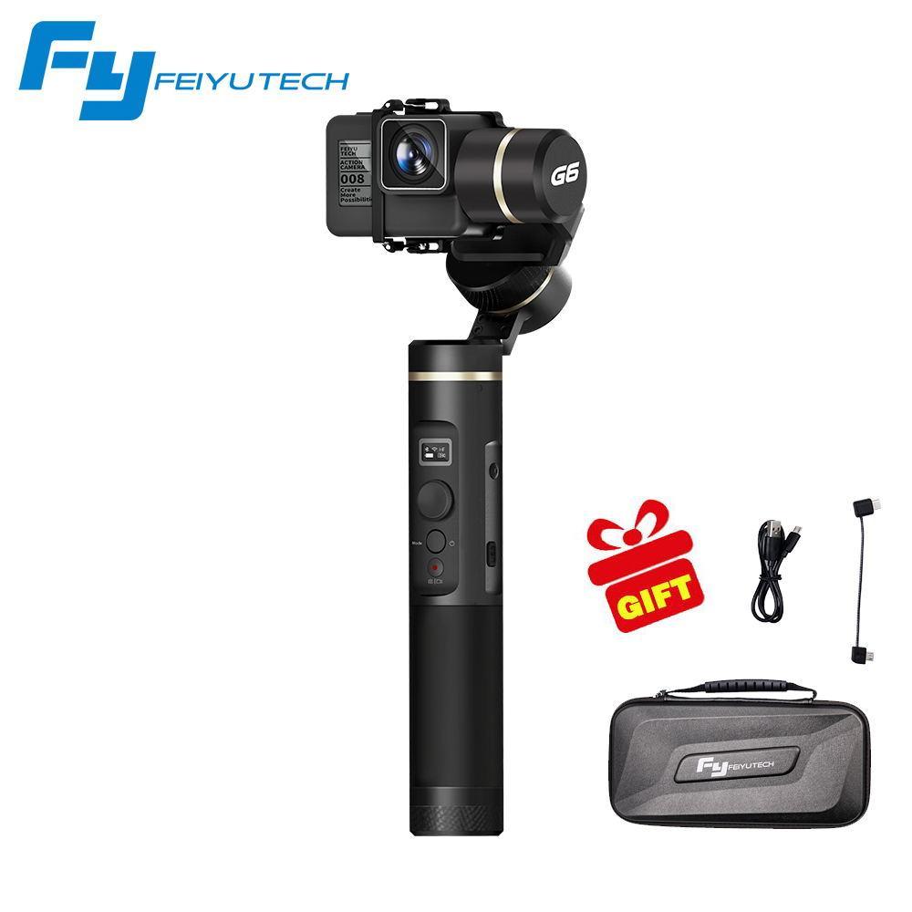 Feiyu Tech Feiyu G6 Gimbal Feiyu Wifi Kamera Aksi Gigi Biru Screen OLED Sudut untuk GoPro Hero 6 5 4 RX0 Xiaomi Yi Sony