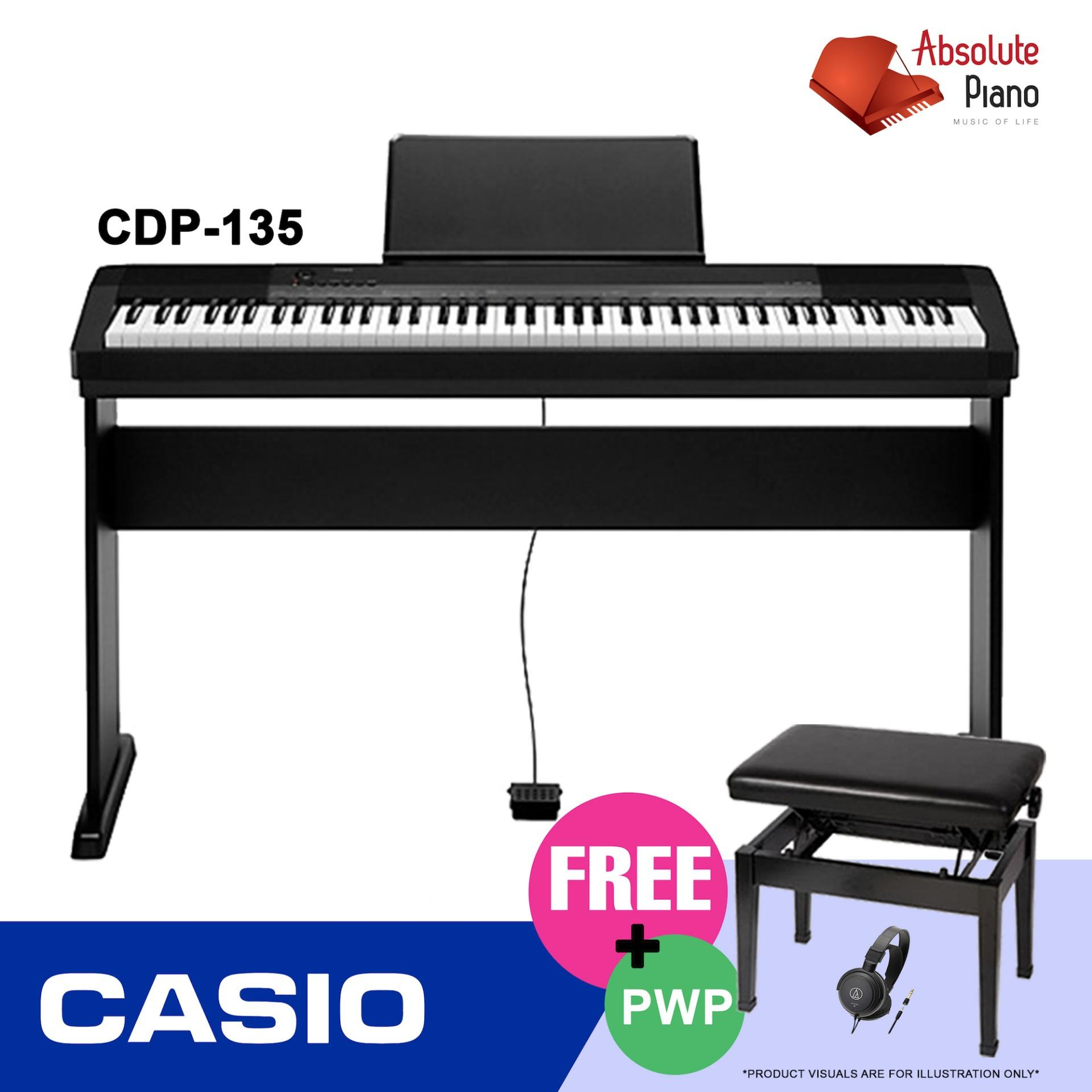Compare Casio Contemporary Digital Piano Cdp 135 With Stand X Bench Prices