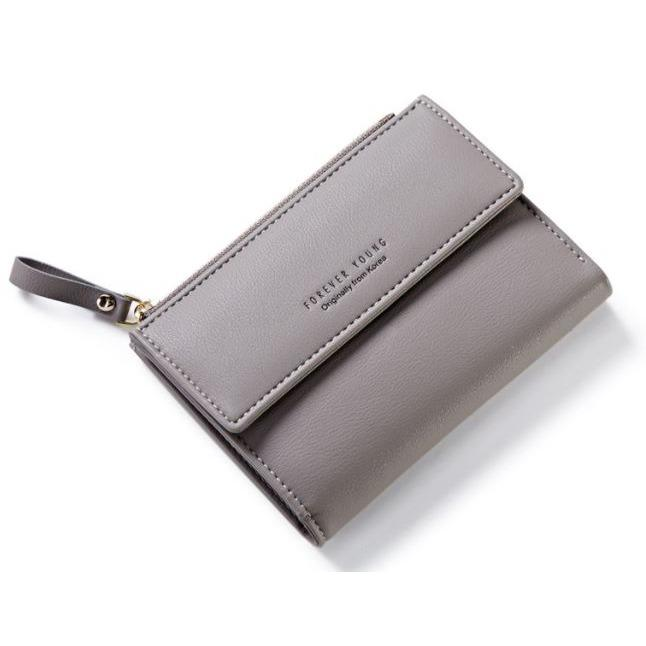 Price Comparisons For Grey Short Coin Purse Wallet With Zipper