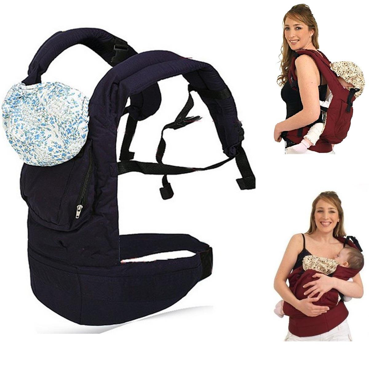 Multi Functional Baby Carrier Waist Belt Infant Hip Seat Dark Blue Shopping