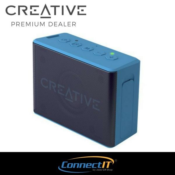 Best Buy Creative Muvo 2C Palm Sized Mini Water Resistant Bluetooth Speaker With Built In Mp3 Player Blue