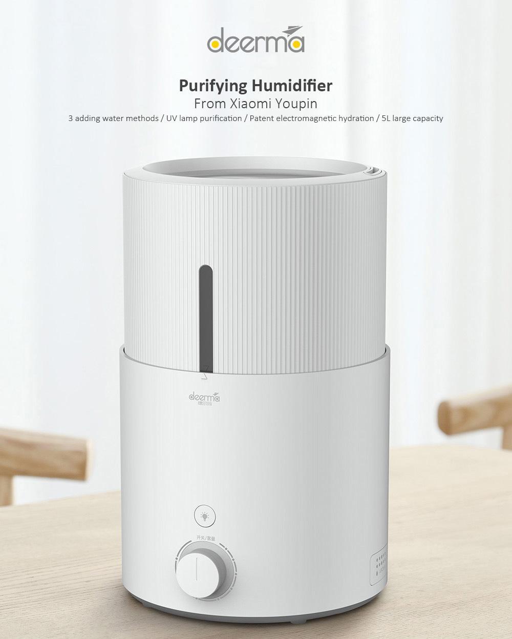 Deerma DEM - SJS600 5L Large Capacity Purifying Humidifier from Xiaomi Youpin