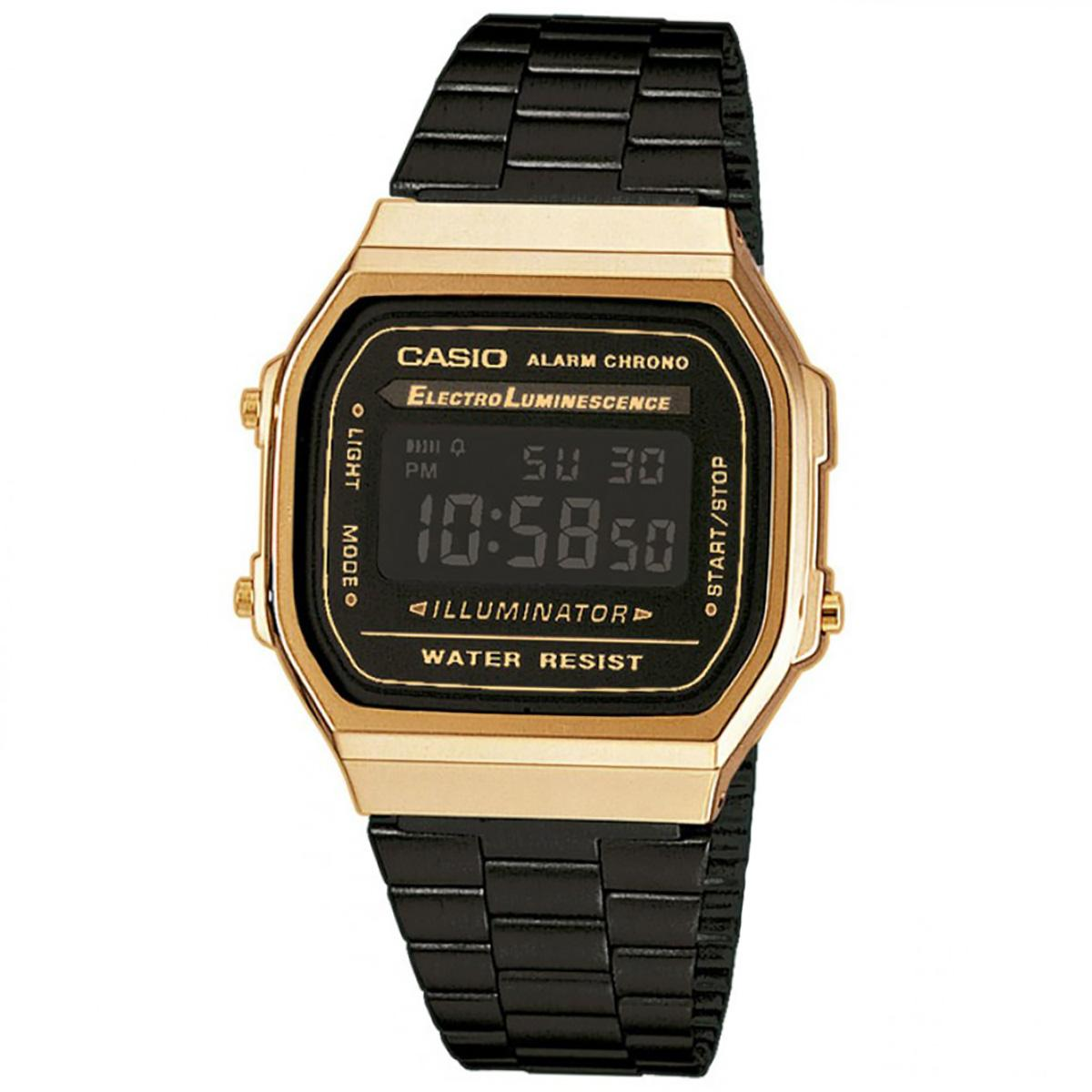 Casio Casio Vintage Black Stainless-Steel Case Resin Strap Ladies NWT + Warranty LA-680WEGB-1A