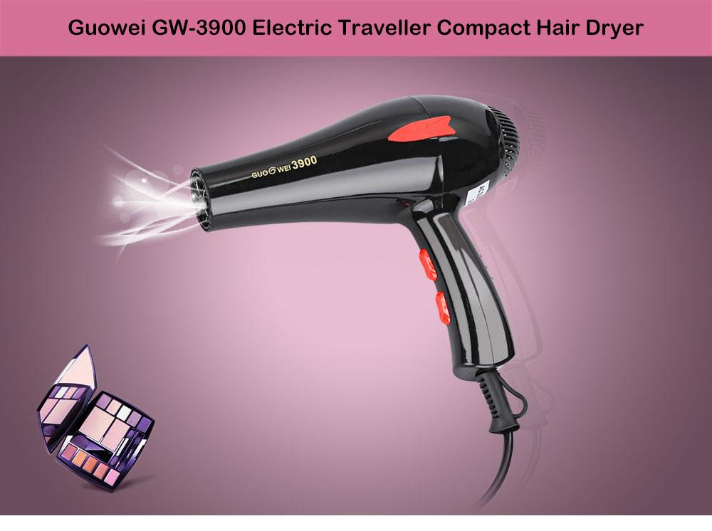 Get Cheap Guowei Gw 3900 Portable Powerful Electric Traveller Compact Hair Dryer Intl