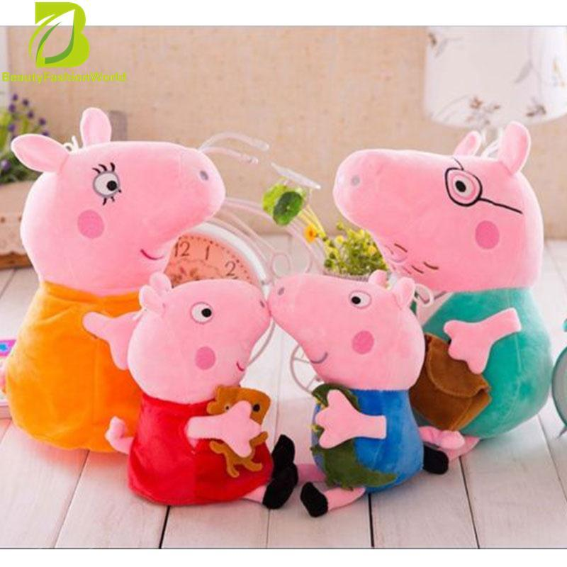 Price Comparisons Of 4Pcs Peppa Pig Family Plush Stuffed Toy 30Cm Daddy Mummy 19Cm Peppa George Intl
