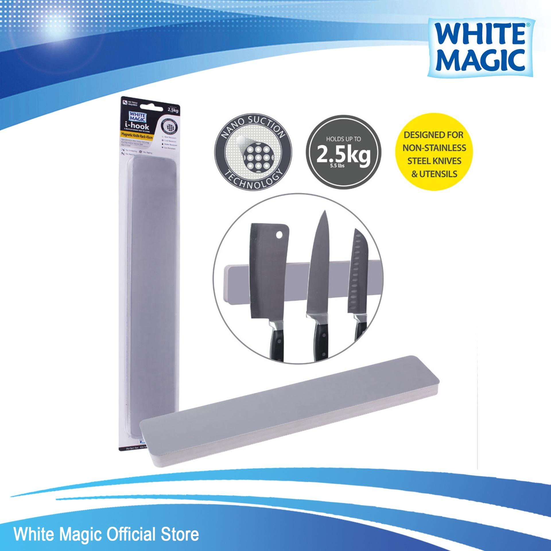Buy White Magic I Hook Magnetic Knife Rack 45Cm White Magic Cheap