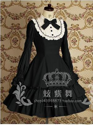 Spring And Autumn Lolita COS Princess dress for women RENOPIA Gorgeous Long  Sleeve Day Uniforms dress c1f1f7709ace